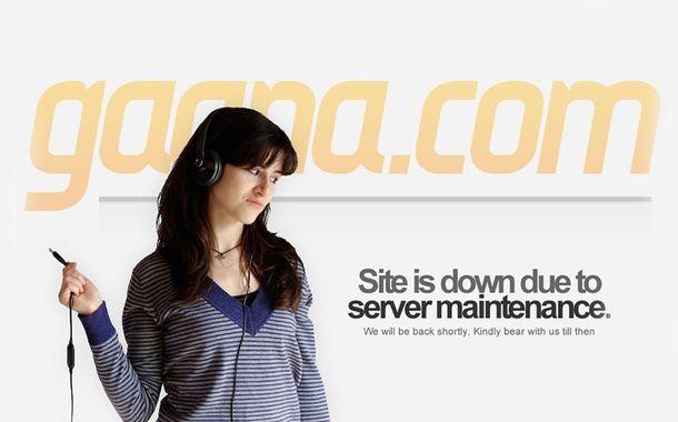 Gaana.com Website