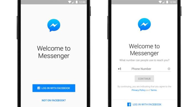 Messenger Login without Facebook-Android