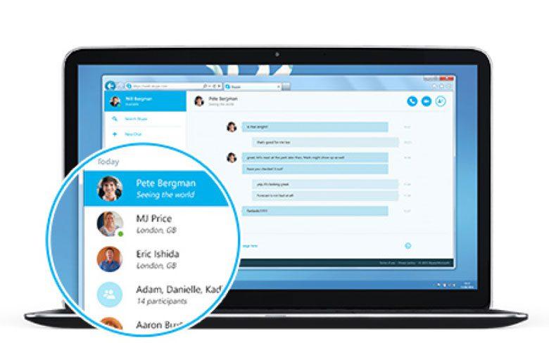 Skype web timeline