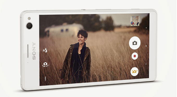 Xperia C4 White Side