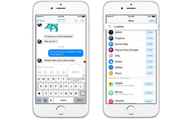 Facebook Messenger Sharing