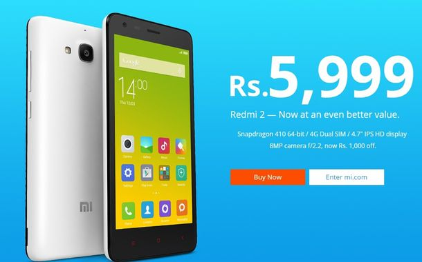 Redmi 2 Price Cut