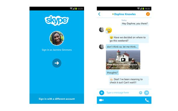 Skype New Mobile App