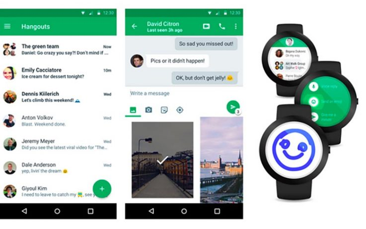 Google released Hangout 4 0 for Android, updated with material design