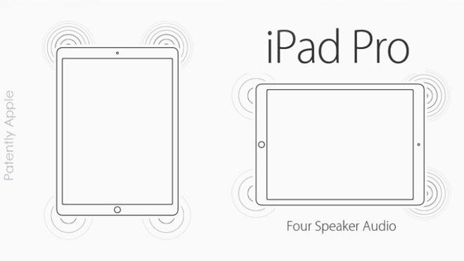 4 & 8 Speaker iPad Pros Patent