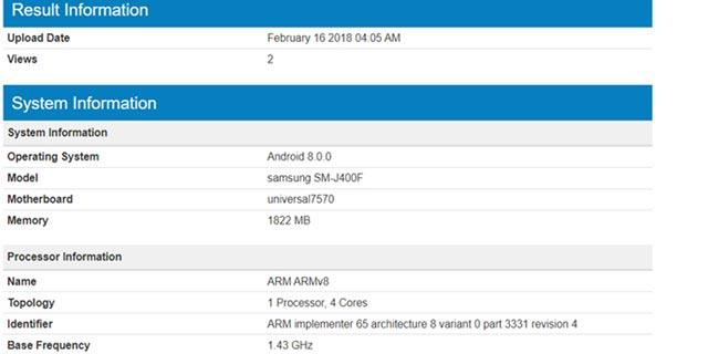 Samsung J4 System
