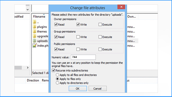 WP Change File Attributes