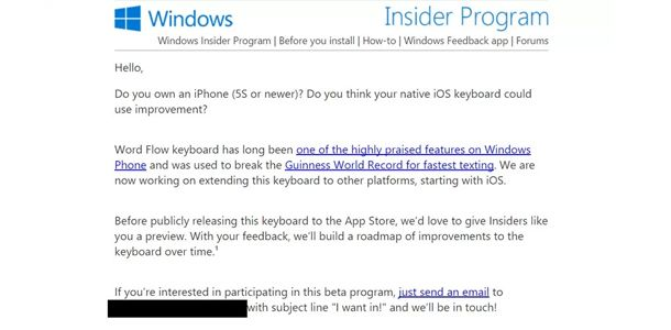 Windows Insider beta program