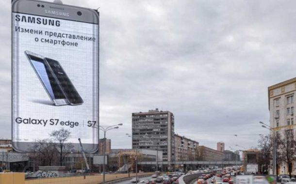Galaxy S7 edge signage