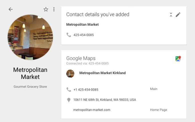 Google Contacts Will Feed into Information from Google Maps