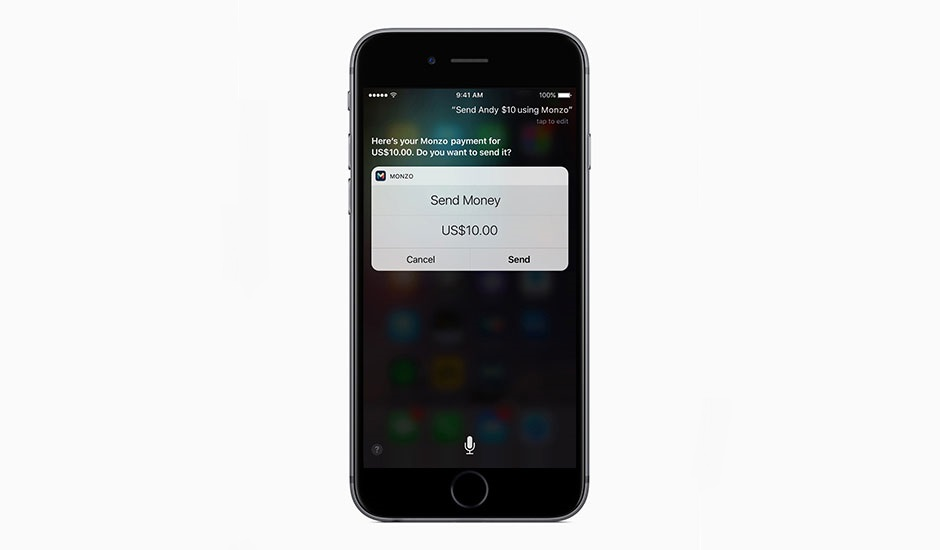Apple Siri Monzo