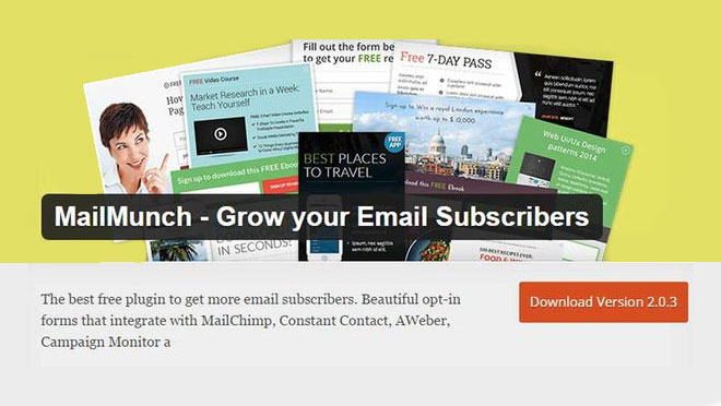 MailMunch WordPress Plugin
