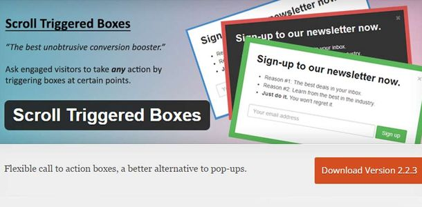 Scroll Trigger Boxes WordPress Plugin