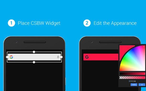 Custom Search Bar Widget