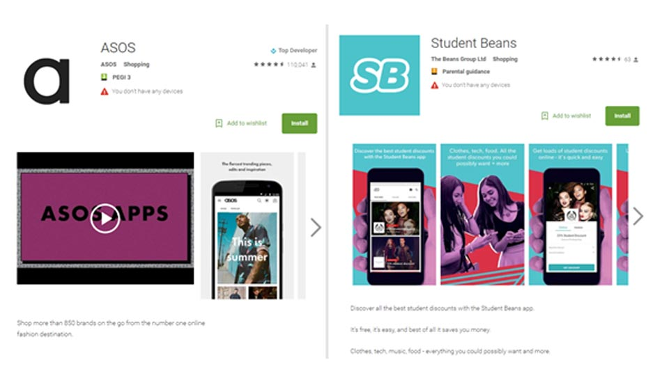 ASOS Students Bean App