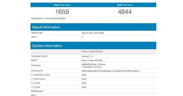 Lenovo K8 Specification