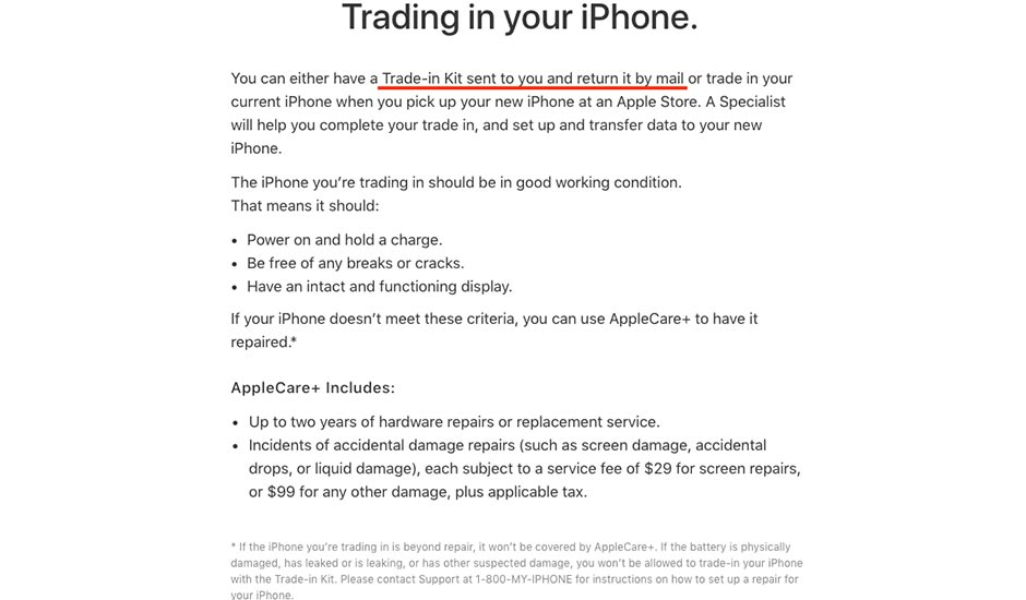 Trading iPhone