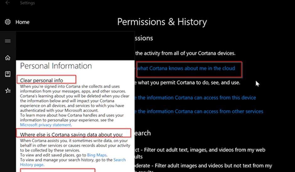 Cortana Permission