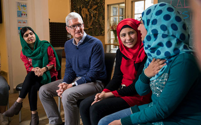 Apple partners with Malala Yousafzai's Malala Fund to help advance girls' education