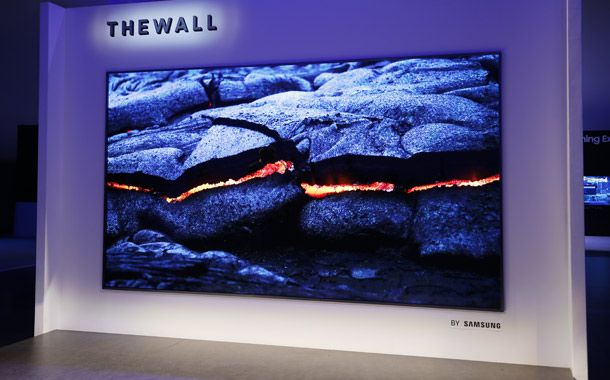 Samsung debuts 146-in TV wall for the home