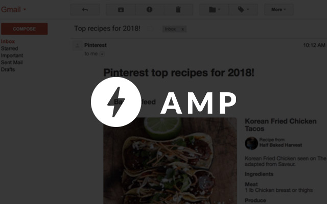 Gmail to support AMP technology to make email much more interactive