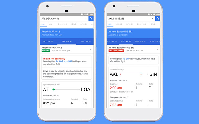 Google Flights Update