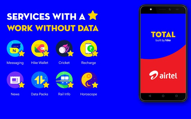 Hike Total to Come Pre-Installed on Select Airtel Smartphones