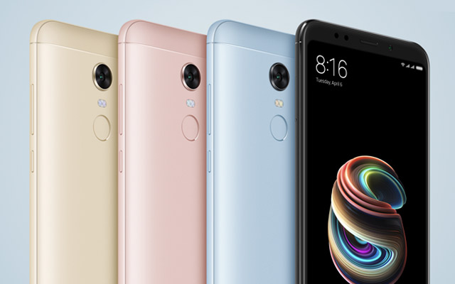 Presented smartphone Xiaomi Redmi Note and Redmi Note 5 5 Pro