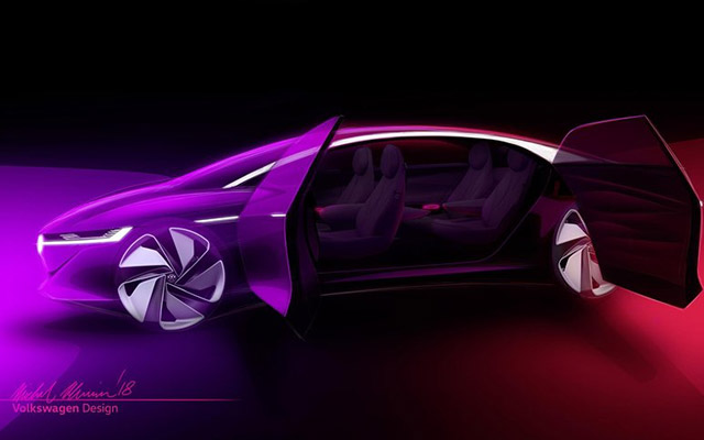 Volkswagen ID Vizzion concept previews an electric sedan