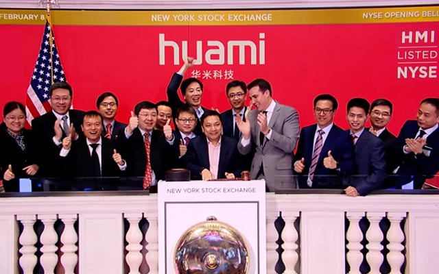Anhui-Based Huami Debuts on NYSE