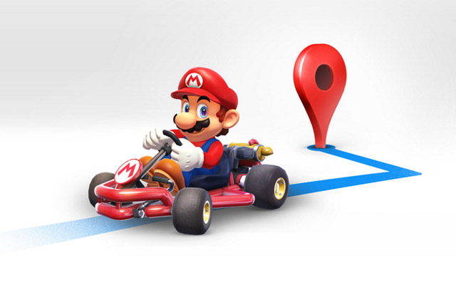 Explore Google Maps with Mario Kart on MAR10 Day