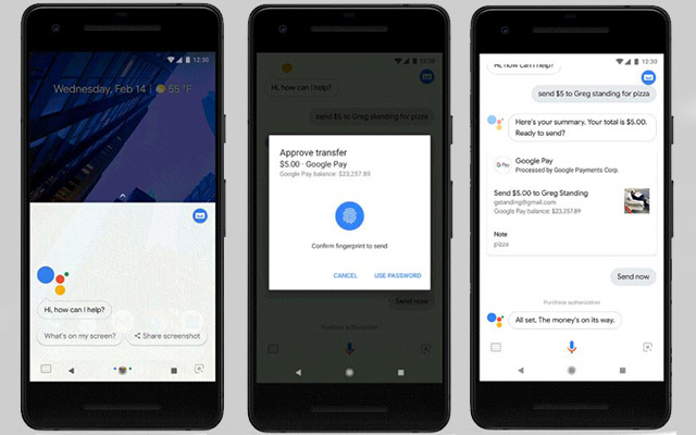 Google Pay Google Assistant