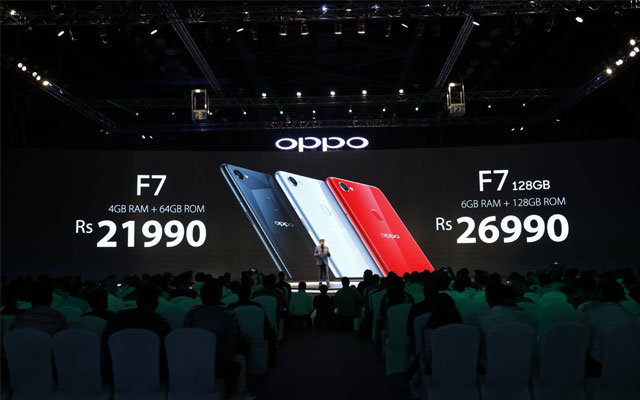 Oppo F7 officially unveiled with 25 MP front camera and face unlock