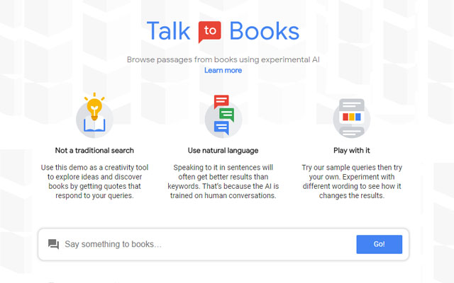 Google Talk to Books