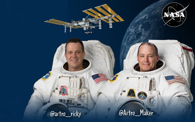 NASA Astronauts on Space Station