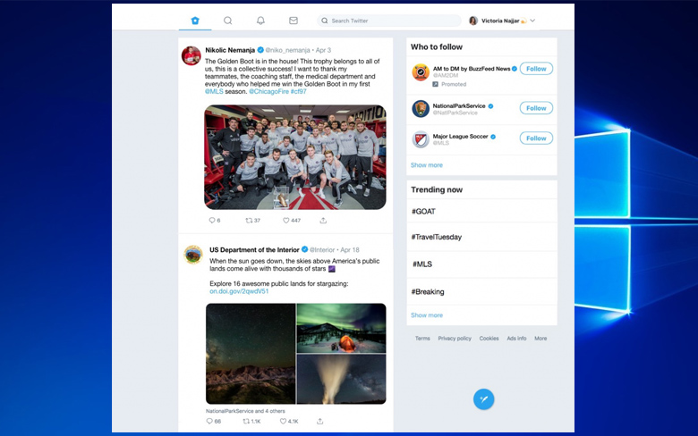Twitter for Windows 10