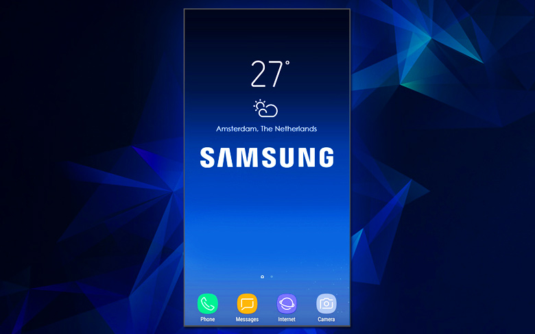 Samsung Full-Screen Smartphone