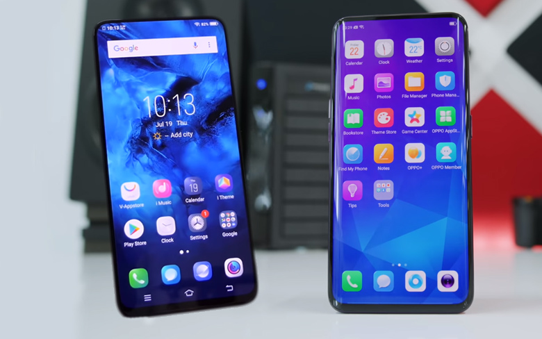 Oppo Find X and Vivo Nex
