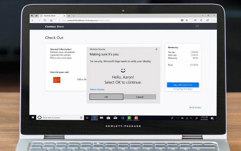 Web Authentication in Microsoft Edge