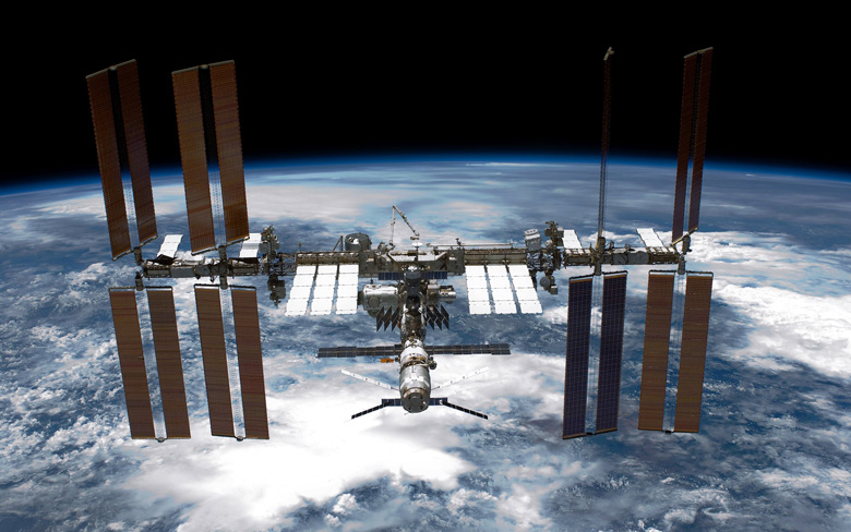 Aboard Space Station