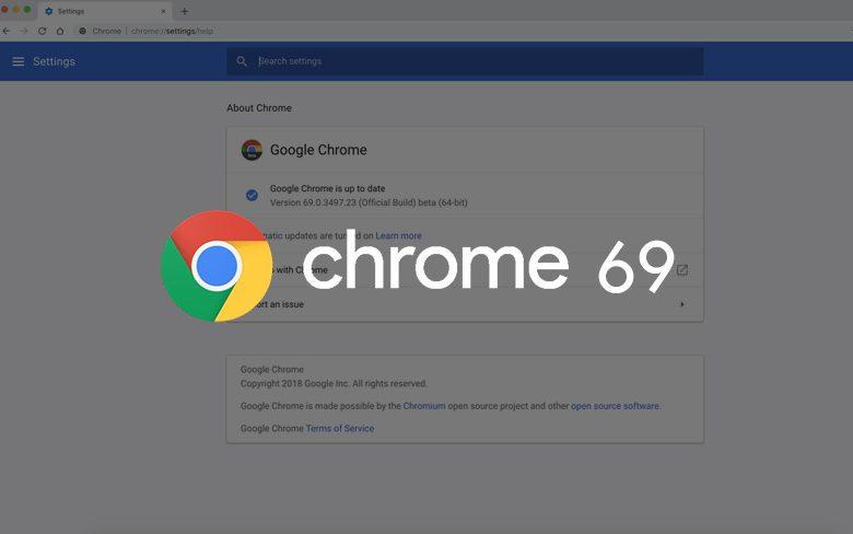 Chrome 69 Beta