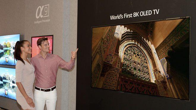 LG 88 inch 8K OLED TV