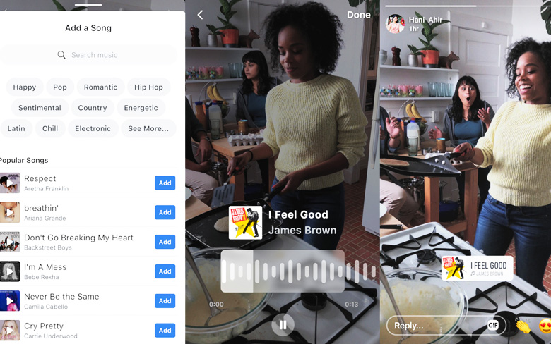 Facebook Tests to Add Songs