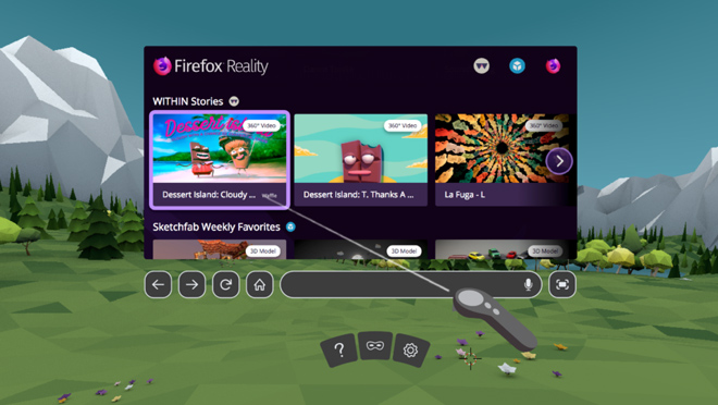 Firefox Browser for VR
