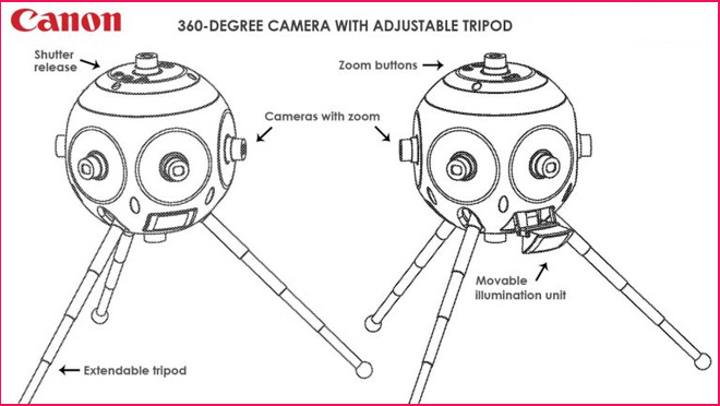 Camera with Adjustable Tripod