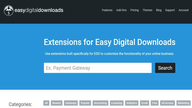 Eeasy Digital Download Extension