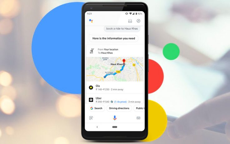 Google Assistant to Ride