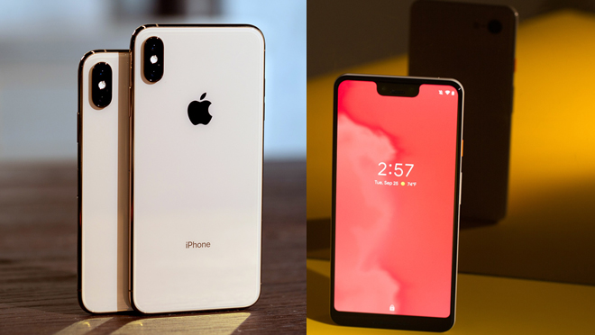 iPhone XS Max and Pixel 3