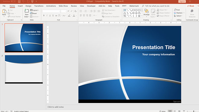 Blue Manager PowerPoint Template