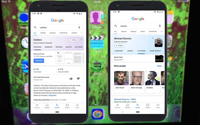 Google Search Cards UI